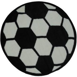 "Fun Rugs Soccerball 39"" Round Rug"