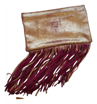 Maje Gold Leather Handbags