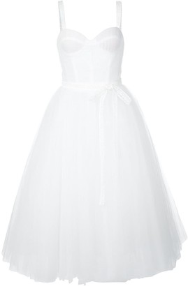 Carolina Herrera Bow-Embellished A-Line Dress