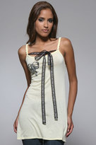 Signorelli Braided Tunic with Bow in Lemon