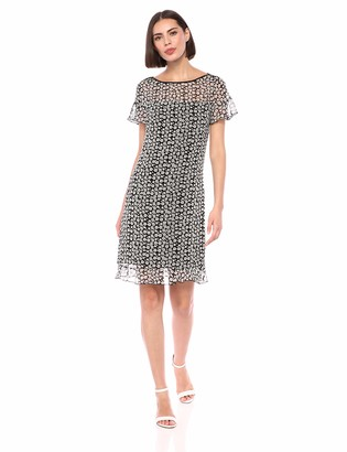 Karl Lagerfeld Paris Women's Printed Chiffon Shift Dress