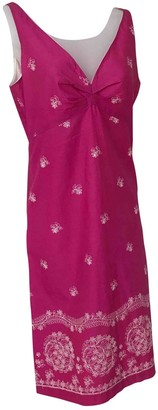 Tocca Pink Cotton Dress for Women