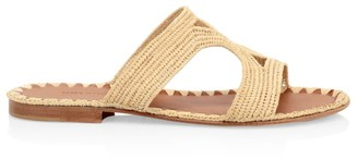 Carrie Forbes Raffia Cutout Slides
