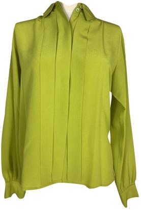 Hermes Green Silk Tops