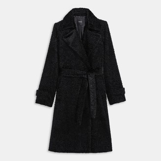 Theory Faux Astrakhan Trench Coat