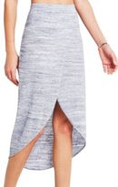 BCBGeneration Melange Knit Wrap Skirt