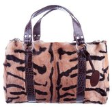 Etro Leather-Trimmed Ponyhair Bag