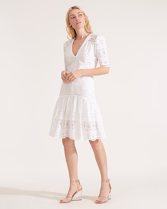 Veronica Beard Eve Eyelet Dress