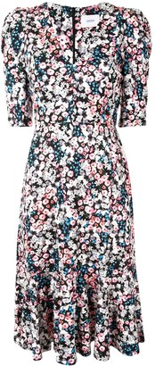 Erdem Puff-Sleeve Floral Dress