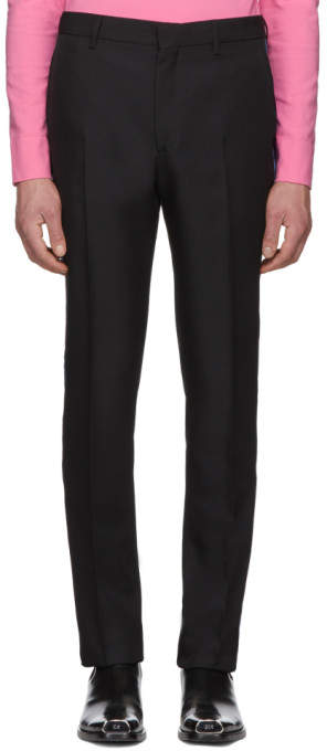 Calvin Klein Black Uniform Side Stripe Trousers