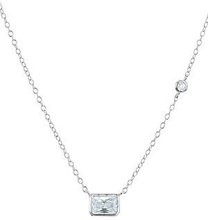 Aqua Radiant Pendant Necklace in 18K Rose Gold Tone-Plated Sterling Silver or Platinum-Plated Sterling Silver, 14 - 100% Exclusive
