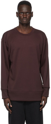 Y-3 Burgundy Mesh CH2 GFX Sweatshirt