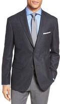 JB Britches Men's Classic Fit Windowpane Wool Sport Coat
