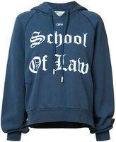 Off-White School of Law hoodie - women - Cotton - XL