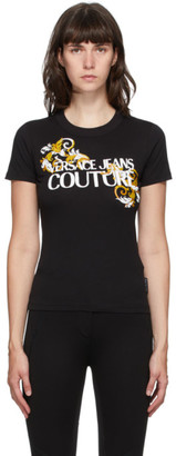 Versace Black Baroque Accent T-Shirt