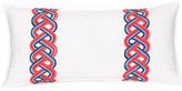 "Trina Turk 20"" x 10\"" Coastline Ikat Pillow - Blue/Coral"