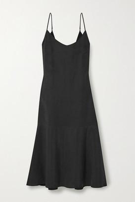 Alex Mill Stella Tencel And Linen-blend Midi Dress - Black