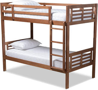 Design Studios Liam Modern And Contemporary Twin Size Bunk Bed