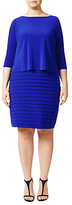 Adrianna Papell Plus Size Banded Two-For Dress, Sapphire