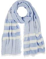 Barneys New York WOMEN'S STRIPED GAUZE OVERSIZED SCARF