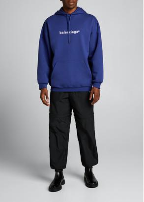 Balenciaga Men's Copyright Logo Hoodie