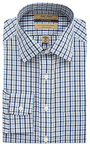 Roundtree & Yorke Gold Label Fitted Gingham Dress Shirt