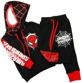 Wind Girl boy's spider-man hoodie and pants suit