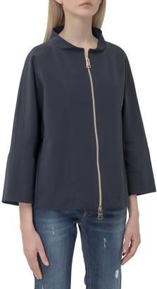 Herno Mandarin Collar Zipped Jacket