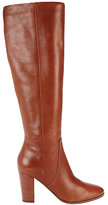 Belle by Sigerson Morrison Foldover Knee High Stack Heel Boot: Brown