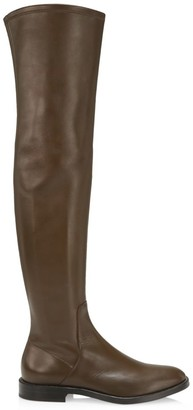 Brunello Cucinelli Over-The-Knee Leather Boots