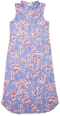 N by Natori Cherry Blossom Gown (Sky Violet Combo) Women's Pajama