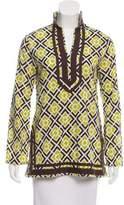 MICHAEL Michael Kors Printed Long Sleeve Top
