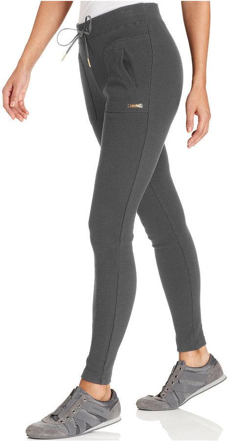 Calvin Klein Pants, Ribbed-Knit Active Leggings