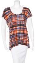 Suno Plaid Printed Top