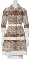 Giambattista Valli Leopard Print Silk Coat w/ Tags