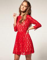 ASOS Lace Dress with Appliqué Neck