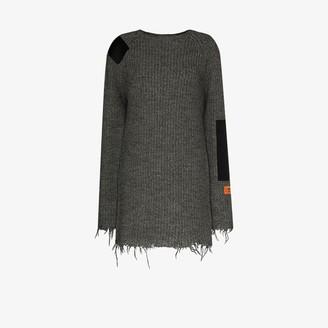 Heron Preston Patch Detail Knitted Dress