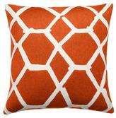 Judy Ross Textiles Jalli Coral/Cream Pillow