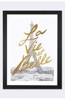 iCanvas 'Gilded Paris - La Vie Est Belle' Framed Fine Art Print