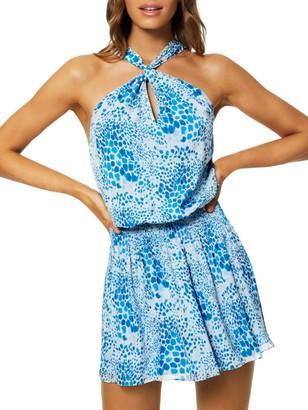 Ramy Brook Ember Silk Halter Mini Dress