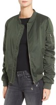 BB Dakota Women's Atwood Satin Bomber Jacket