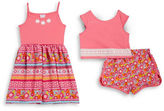 Sweet Heart Rose Sweetheart Rose Girls 2-6x Cropped Top, Shorts and Dress Set