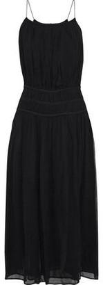 Frame Gathered Gauze Maxi Dress