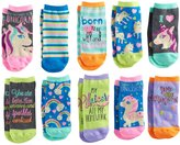 Pink Cookie Girls 4-16 10-pk. Characters & Patterns Low Cut Socks