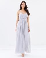 Oasis Pintuck Chiffon Maxi Dress