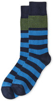 Lorenzo Uomo Rugby Stripe Cashmere-Blend Crew Socks