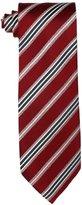 Geoffrey Beene Men's Adler Stripe Necktie, Red, One Size