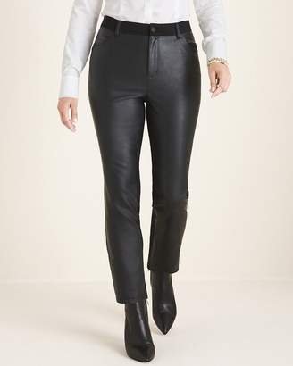 Chico's Chicos Faux-Leather Front Slim Pants