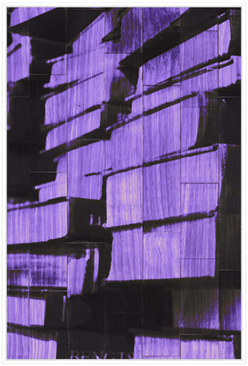 Jonathan Bass Studio New Book - Purple, Decorative Framed Hand Embellished Canvas