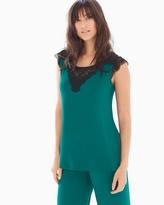 Soma Intimates Short Sleeve Pajama Top Green Envy